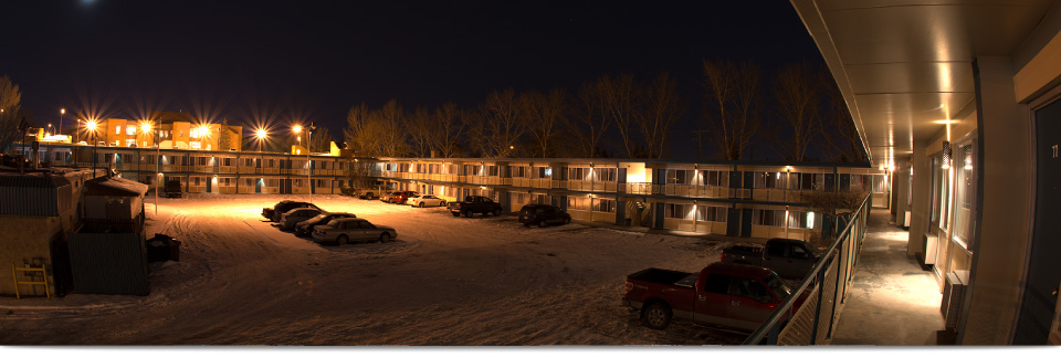 Our cheap motels in Calgary at night